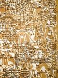 Diagrama da placa de circuito. Imagens de Stock