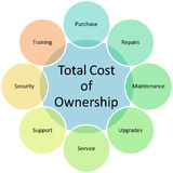 Diagrama da posse do custo total ilustração royalty free