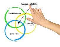 diagrama da sustentabilidade imagens de stock