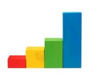 Diagrama de blocos de madeira Imagem de Stock