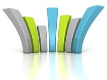 Diagrama de carta financeiro colorido da barra do negócio Fotografia de Stock