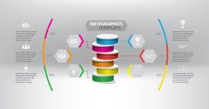Diagrama de carta de negocio y plantilla infographic Fotos de archivo