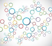 Diagrama de conexão da rede dos átomos da cor Imagens de Stock