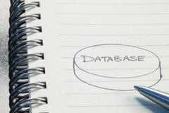 Diagrama de la base de datos imagen de archivo libre de regalías