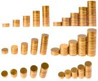 Diagrama de la columna de la moneda foto de archivo libre de regalías