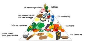 Diagrama de la comida fotografía de archivo libre de regalías