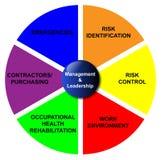 Diagrama de la gerencia y de la dirección Imagen de archivo libre de regalías