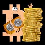 Diagrama de la historieta de Bitcoin Foto de archivo libre de regalías