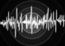 Diagrama de la onda del terremoto Ilustración Imagen de archivo libre de regalías