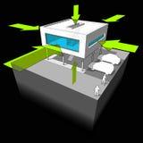 Diagrama de la toma del calor/de la energía Fotografía de archivo
