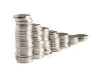 Diagrama de las monedas Foto de archivo libre de regalías