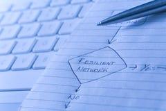 Diagrama de red resistente Fotografía de archivo