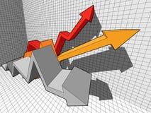 Diagrama de seta ilustração stock