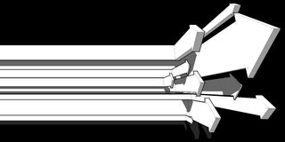 Diagrama de seta Fotografia de Stock