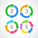 Diagrama de setas do ciclo Imagens de Stock