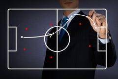 Diagrama de um jogo de futebol Foto de Stock Royalty Free
