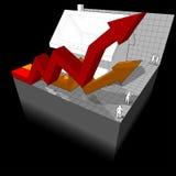 Diagrama de uma casa com setas do negócio Imagens de Stock Royalty Free