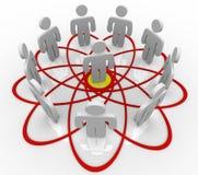 Diagrama de Venn mucha gente una persona en el centro ilustración del vector