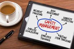 Diagrama del concepto de la gestión de seguridad Imagen de archivo libre de regalías