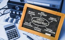 Diagrama del concepto de la gestión de seguridad Fotografía de archivo libre de regalías