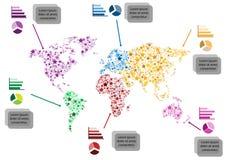Diagrama del mundo Fotografía de archivo