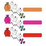 Diagrama del símbolo del icono de la idea del vector del negocio Foto de archivo libre de regalías