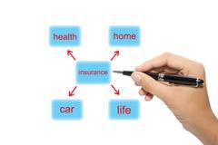 Diagrama del seguro Imágenes de archivo libres de regalías