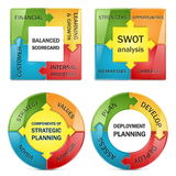 Diagrama del vector de la gestión estratégica Imagen de archivo