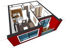 Diagrama do apartamento Fotos de Stock
