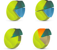 Diagrama do círculo ilustração stock