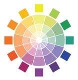 Diagrama do círculo de cor Imagens de Stock