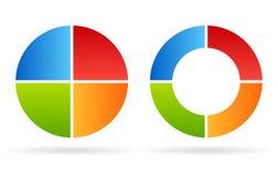 Diagrama do ciclo de quatro porções ilustração stock