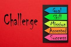 Diagrama do conceito do desafio imagem de stock
