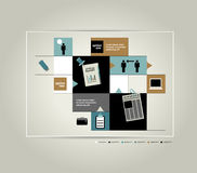 Diagrama do esquema de Infographic Imagem de Stock Royalty Free