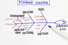 Diagrama do Fishbone Fotos de Stock Royalty Free