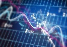 Diagrama do mercado de valores de acção Fotografia de Stock