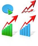 Diagrama do negócio ilustração stock