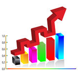 diagrama do negócio 3d. Vetor Fotos de Stock