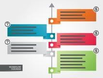 Diagrama do negócio do fluxo de trabalho Foto de Stock