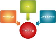 Diagrama do negócio dos componentes do treinamento Imagens de Stock Royalty Free