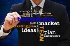 Diagrama do plano empresarial fotografia de stock royalty free