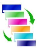 Diagrama do processo Imagens de Stock