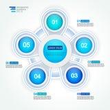 diagrama do processo do ciclo de 5 opções da etapa Imagem de Stock Royalty Free