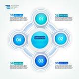 diagrama do processo do ciclo de 4 quatro opções da etapa Foto de Stock Royalty Free