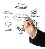 Diagrama do seguro Imagem de Stock