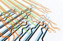 Diagrama do trajeto Foto de Stock