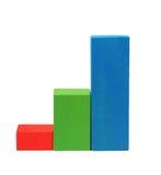 Diagrama dos blocos de madeira em três níveis Foto de Stock