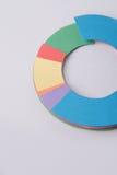 Diagrama dos gráficos de negócio sobre o fundo cinzento da tabela Fotos de Stock