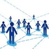 Diagrama dos povos da equipe do negócio Foto de Stock