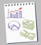 Diagrama e dólares ilustração royalty free